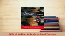 PDF  Bills of Lading A Guide to Good Practice Free Books