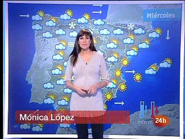 Monica Lopez en El Tiempo del Canal 24H - (19/01/10)