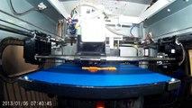 Da Vinci 3D Printer - 3D Printing Airplane 3D printed airplane timelapse