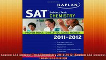 Downlaod Full PDF Free  Kaplan SAT Subject Test Chemistry 20112012 Kaplan SAT Subject Tests Chemistry Full EBook