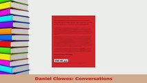 Download  Daniel Clowes Conversations Free Books