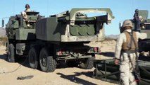 US Marine Powerful New US GPS Guided Rockets in Action - M142 High Mobility Artillery Rocket System - HIMARS