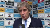 Southampton 4-2 Manchester City - Manuel Pellegrini Post Match Interview - Doubts Motivation