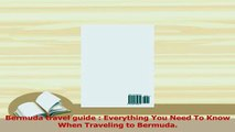 PDF  Bermuda travel guide  Everything You Need To Know When Traveling to Bermuda  EBook