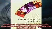 READ book  Administracion de operaciones Operations Management Bienes Servicios Y Cadenas De Valor Full EBook