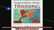READ book  Negotiation Skills Training ASTD Trainers Workshop Series Astds Trainers Workshop READ ONLINE