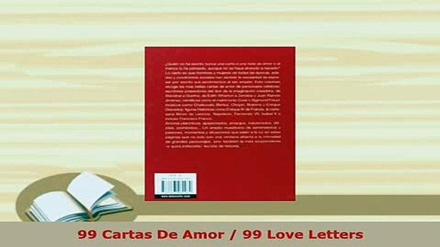 Download  99 Cartas De Amor  99 Love Letters Free Books