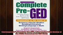 READ book  Contemporarys Complete PreGED  A Comprehensive Review of the Skills Necessary for GED  FREE BOOOK ONLINE