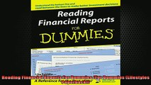 FREE DOWNLOAD  Reading Financial Reports For Dummies For Dummies Lifestyles Paperback READ ONLINE