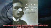 Enjoyed read  Japans Modern Prophet Uchimura Kanzo 18611930 Asian Religions and Society