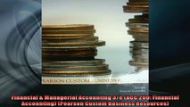 FREE PDF  Financial  Managerial Accounting 3e ACC 200 Financial Accounting Pearson Custom  FREE BOOOK ONLINE