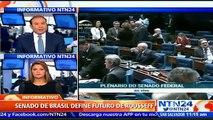 Sesión del Senado que decidirá el futuro de Dilma Rousseff podría extenderse hasta la madrugada de este jueves