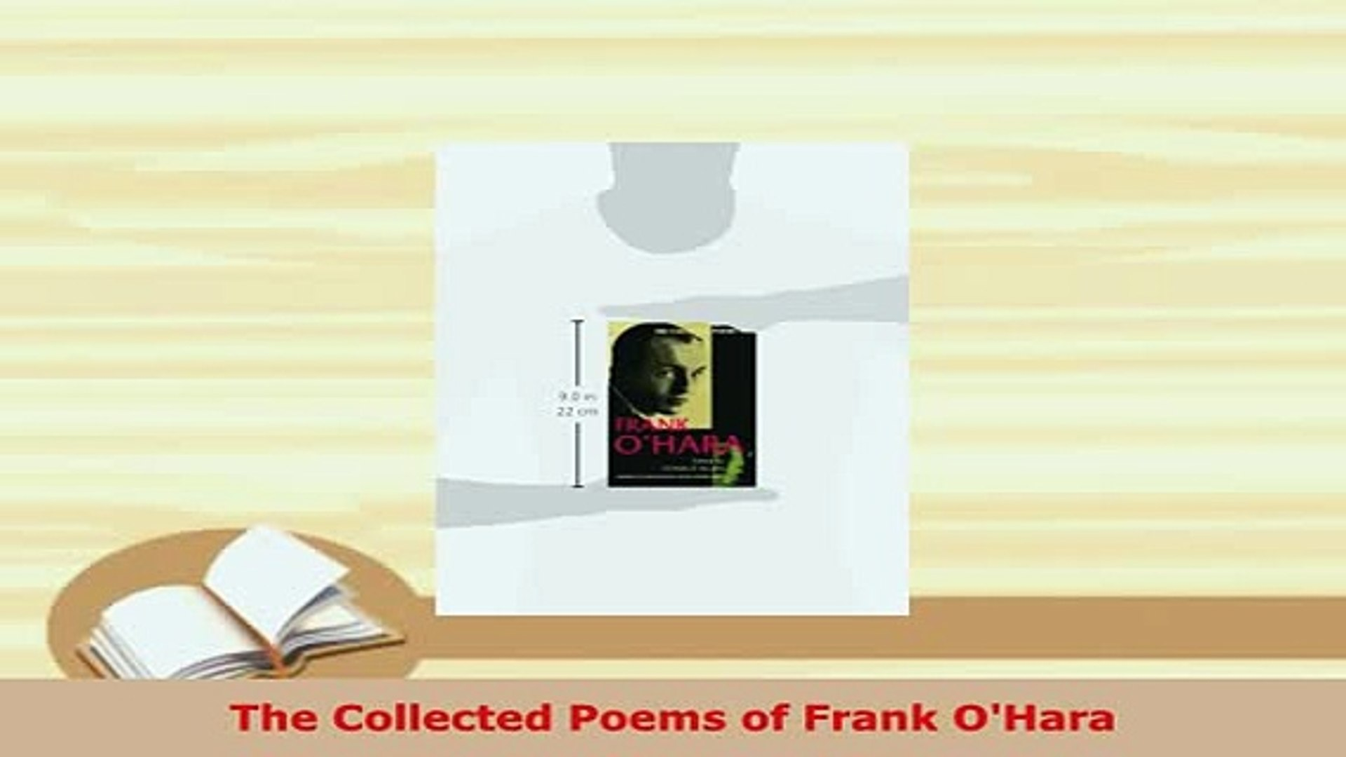 Pdf The Collected Poems Of Frank Ohara Free Books