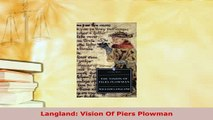 Download  Langland Vision Of Piers Plowman Free Books