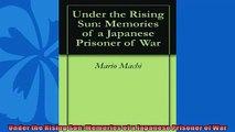 For you  Under the Rising Sun Memories of a Japanese Prisoner of War