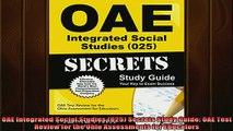READ FREE FULL EBOOK DOWNLOAD  OAE Integrated Social Studies 025 Secrets Study Guide OAE Test Review for the Ohio Full EBook