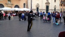 Two minutes ... Michael Jackson in Piazza Navona - Rome