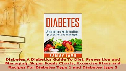 Download  Diabetes A Diabetics Guide To Diet Prevention and Managing Super Foods Charts Excercise  EBook