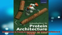 DOWNLOAD FREE Ebooks  Introduction to Protein Architecture The Structural Biology of Proteins Full Free