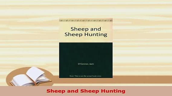 PDF  Sheep and Sheep Hunting  EBook