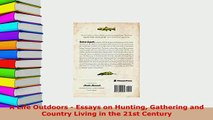 PDF  A Life Outdoors  Essays on Hunting Gathering and Country Living in the 21st Century  EBook