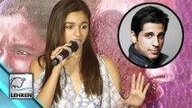 Alia Bhatt IGNORED Question On Sidharth Malhotra