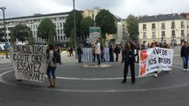 Manifestation des intermittents à la Préfecture.