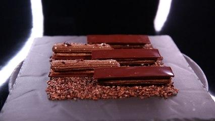 Croquant-croustillant-fondant chocolat et gianduja minute, par Christophe Michalak (#DPDC)