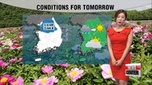 Overnight spotty rain in the capital areas, sunny and warm afternoon