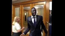 Cheikhou Kouyaté trying to sing the Dimitri Payet song at the West Ham awards after a few drinks!
