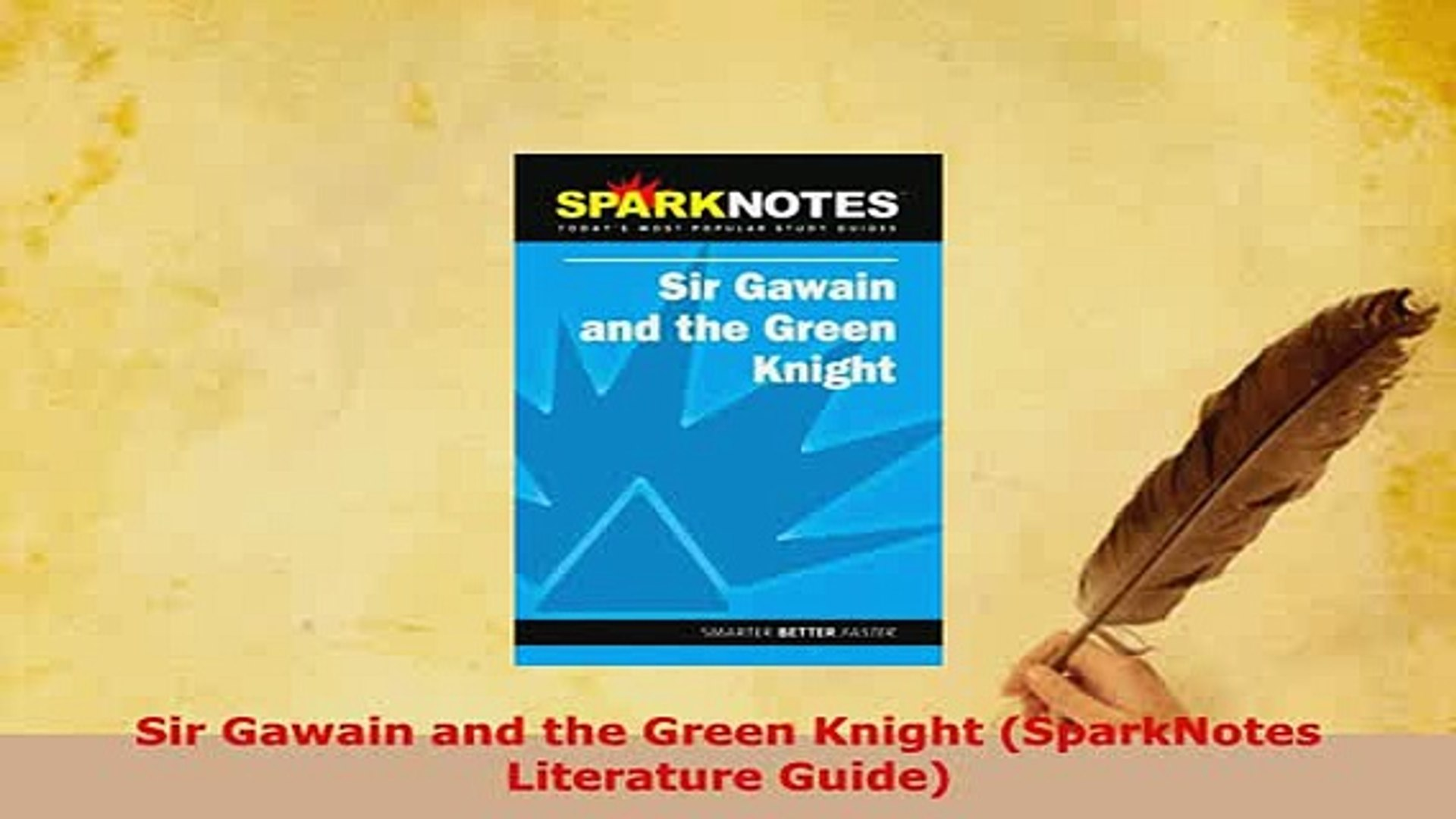 Pdf Sir Gawain And The Green Knight Sparknotes Literature Guide Download Online