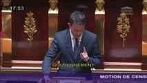 """Loi travail - Manuel Valls : """"Je ne laisserai pas détruire la gauche de gouvernement"""""""
