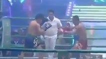 Un combattant Muay-thaï au bord de l'abandon réussit à mettre son adversaire KO