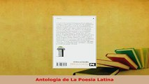 PDF  Antologia de La Poesia Latina Download Online