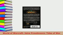 PDF  World of Warcraft Jaina Proudmoore Tides of War Download Full Ebook
