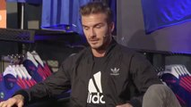 David Beckham talks about Manchester United at the launching of their new away kit