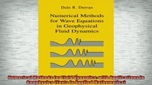 PDF] Numerical Methods for Fluid Dynamics: With Applications to