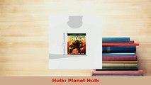 PDF  Hulk Planet Hulk Ebook