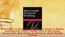 PDF  Best Guide To Stock Trading How To Invest In Stocks Stock Market Stock Trading How To Buy Read Online