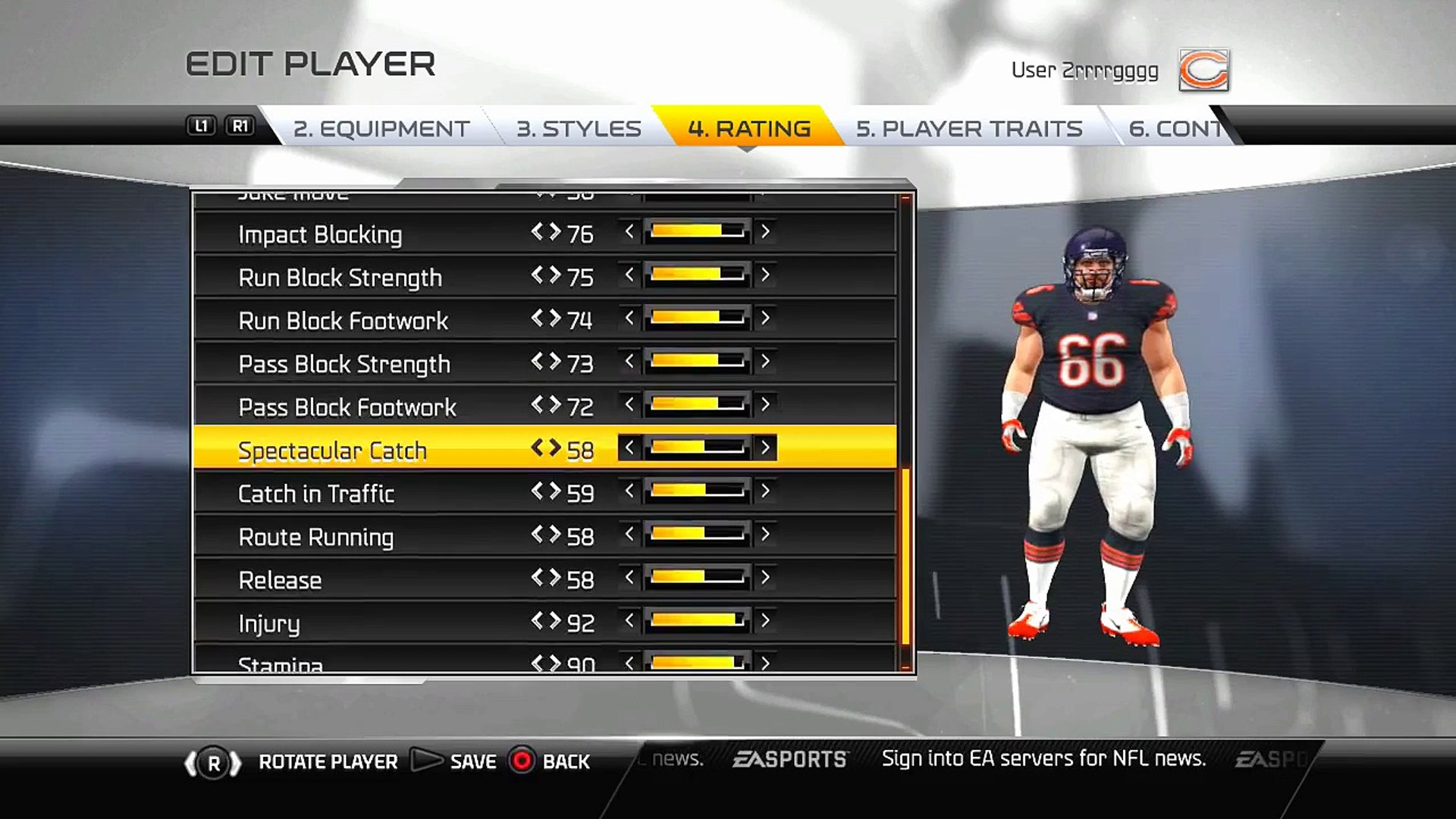 2016 2017 Chicago Bear Draft Class All Players In Madden NFL 16 Spotlight