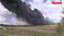 Violent incendie dans une décharge de pneus en Espagne