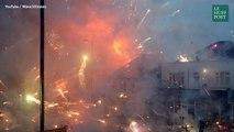 Voilà ce qui se passe quand une entreprise de feux d'artifice explose