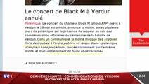 Au final Black M ne chantera pas à Verdun ! Zapping actu du 13/05/2016 par lezapping