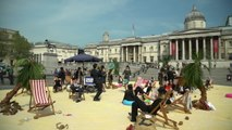 Trafalgar Square Transformed into 'Tax Haven' to Protest Corruption