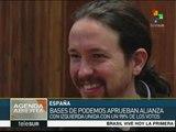 España: bases de Izquierda Unida y Podemos apoyan la coalición