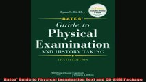 READ book  Bates Guide to Physical Examination Text and CDROM Package Online Free