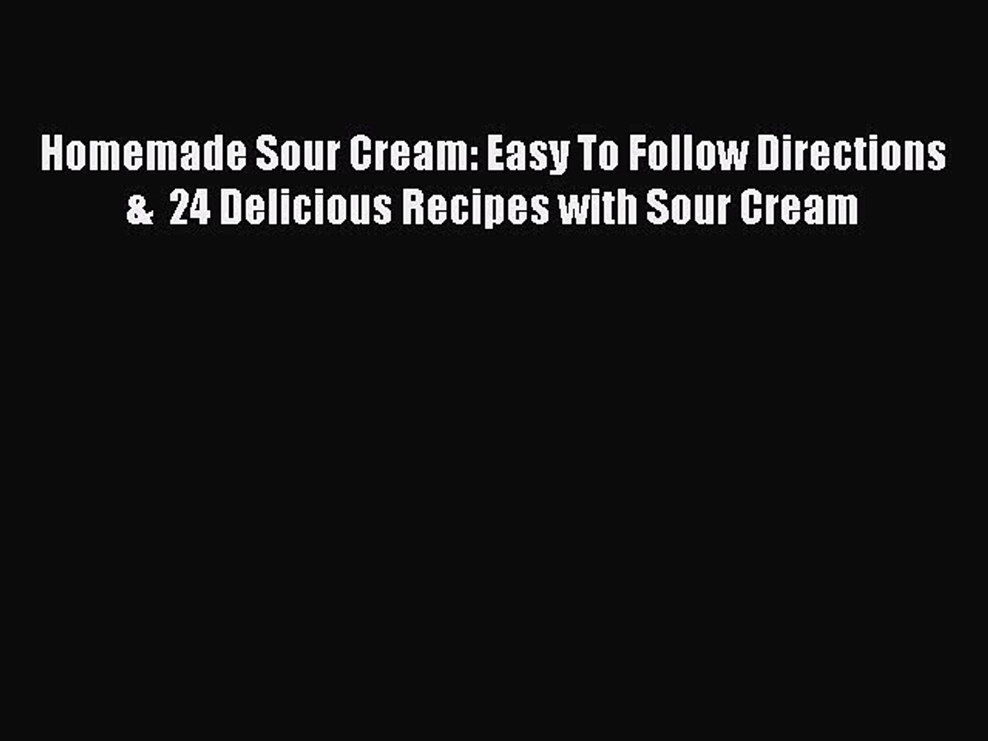 What can you substitute for sour cream?