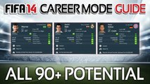 FIFA 14  All Players with 90+ POTENTIAL in Career Mode! (Career Mode Guide #3)