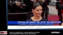 Festival Cannes 2016 - Juliette Binoche : Un acteur marche sur sa robe, malaise sur le tapis rouge (Vidéo)