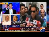 Aitzaz Ahsan's logical reply to Shahzaib Khanzada for comparing Hasan Hussain Nawaz off shore companies with Imran Khan'